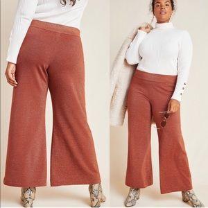 Anthropologie Soho Shimmer Knit Wide Leg Pant sz2X